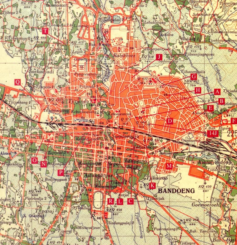 Bandeong Camp Map