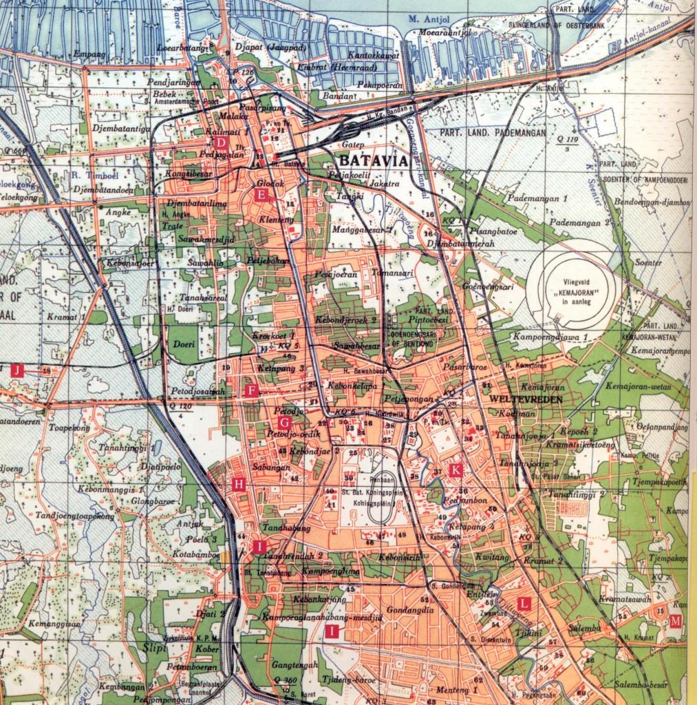 Map of Batavia Camps